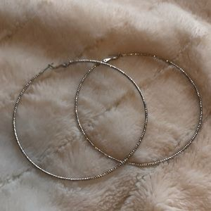 Jewelry - Silver glam hoops
